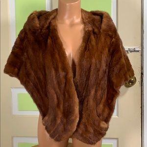 Spectacular mink stole vogue furriers Vintage O/S